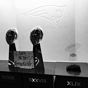 new england patriots trophies